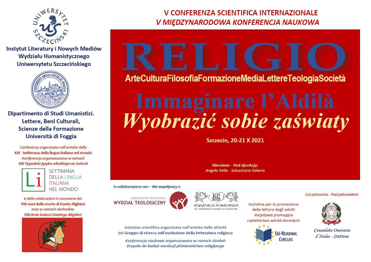 Międzynarodowa konferencja naukowa p.t.:  Wyobrazić sobie zaświaty – Immaginare l'Aldilà 20-22 X 2021