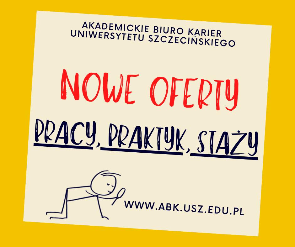 Oferty pracy/praktyk/staży kierowane do studentów